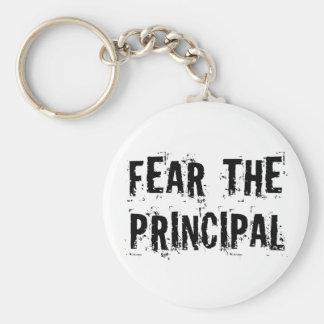 Funny Principal Basic Round Button Key Ring