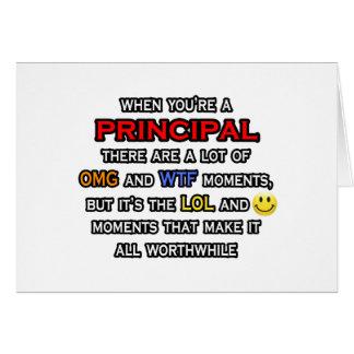 Funny Principal ... OMG WTF LOL Card