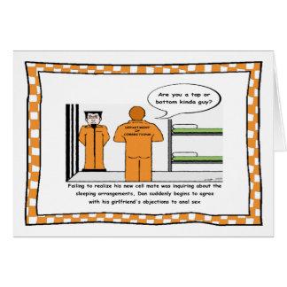 Funny Prison Cartoon Card