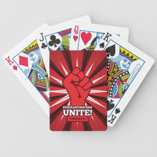 Funny: Procrastinators Unite! (Tomorrow) Bicycle Playing Cards