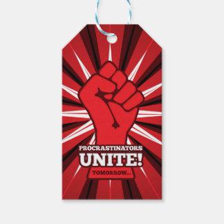 Funny: Procrastinators Unite! (Tomorrow) Gift Tags