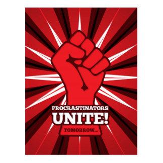 Funny: Procrastinators Unite! (Tomorrow) Postcard