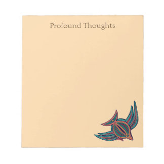 Funny Profound Thoughts Colorful South Seas Art Notepads