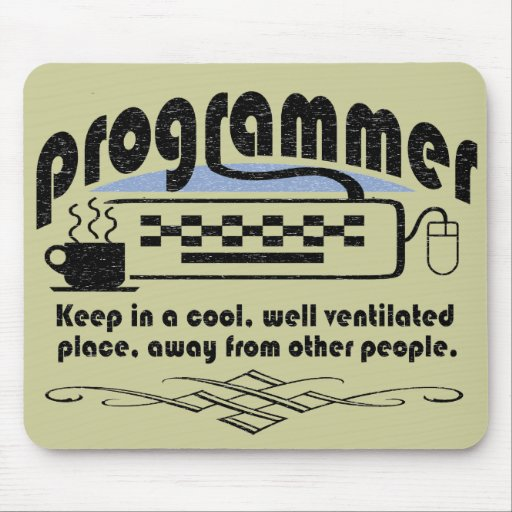 Funny Programmer Mouse Pads