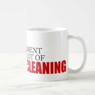 Funny Project Management Saying Risk Fan Cleaning Coffee Mug