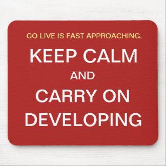 Funny Project Team Gift Go Live Developer Joke Mouse Pad