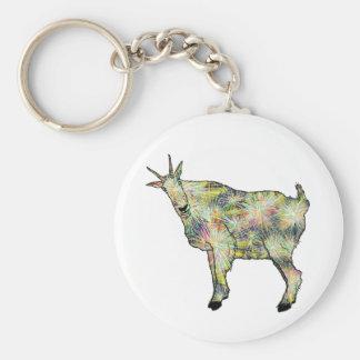 Funny Psychedelic Art Goat Animal Art Design Key Ring