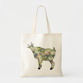 Funny Psychedelic Art Goat Animal Design Tote Bag