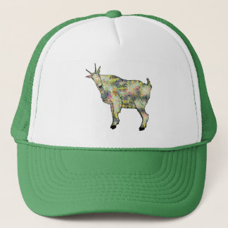 Funny Psychedelic Art Goat Animal Design Trucker Hat