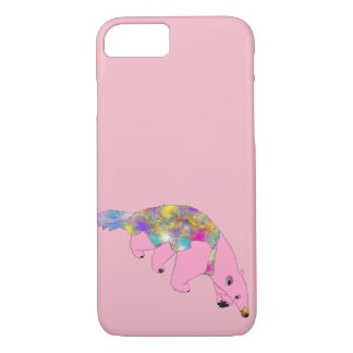 Funny Psychedelic Pink Anteater Animal Art Design iPhone 8/7 Case