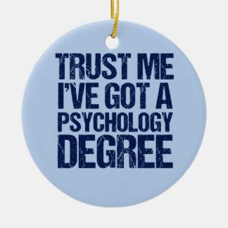 Funny Psychology Graduation Ceramic Ornament