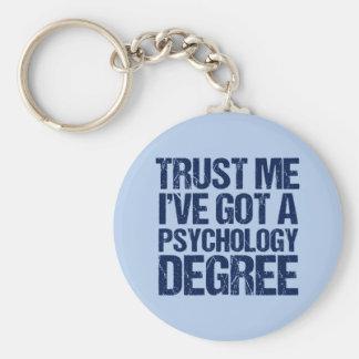 Funny Psychology Graduation Key Ring