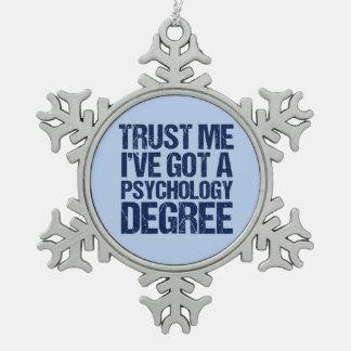Funny Psychology Graduation Snowflake Pewter Christmas Ornament