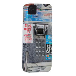 Funny Public Pay Phone Booth iPhone 4 Case