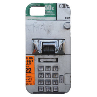Funny Public Pay Phone Booth Seven Eleven Tough iPhone 5 Case