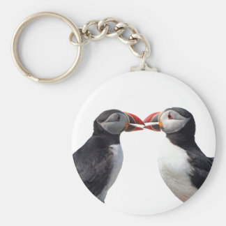 Funny puffins key ring
