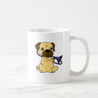 Funny Pug Dog Playing Trombone Coffee Mug