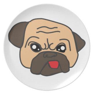 Funny Pug Plate
