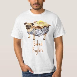 "Funny Pug T Shirt ""Baked Pugtato"""
