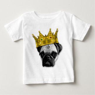 Funny Pug Wearing a Crown PUGLIFE Poop K-9 Baby T-Shirt