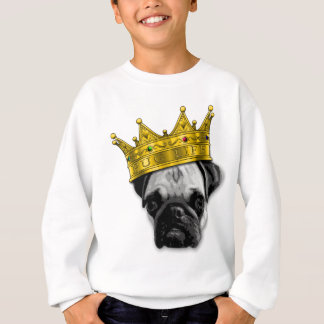 Funny Pug Wearing a Crown PUGLIFE Poop K-9 Sweatshirt