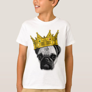 Funny Pug Wearing a Crown PUGLIFE Poop K-9 T-Shirt