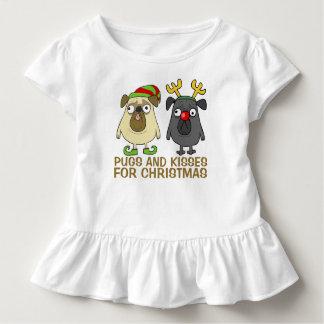 Funny Pugs and Kisses Christmas | Ruffle Tee