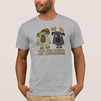 Funny Pugs and Kisses Christmas | Shirt