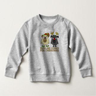 Funny Pugs and Kisses Christmas | Sweatshirt