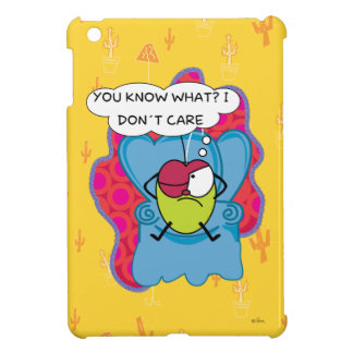 Funny Pulga the flea cartoon ipad case yellow