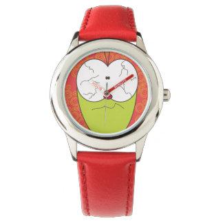 Funny Pulga the flea cartoon watch red