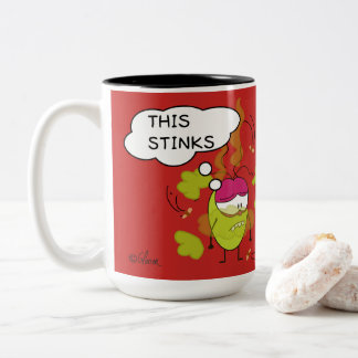 Funny Pulga the flea comic strip stinks mug