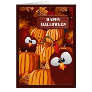 Funny Pumpkin Patch Halloween Wishes Card