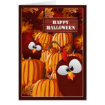 Funny Pumpkin Patch Halloween Wishes Greeting Card