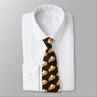 Funny pumpkin pie pattern tie