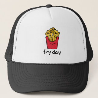 Funny pun Friday happy french fries cartoon Trucker Hat