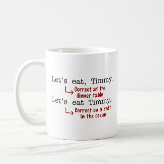 Funny Punctuation Grammar Coffee Mug