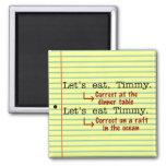 Funny Punctuation Grammar Square Magnet