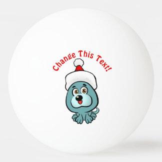 Funny Puppy Santa Claus Ping Pong Ball