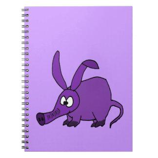 Funny Purple Aardvark Note Book