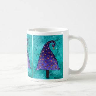 Funny Purple Christmas Tree Painting Coffee Mug