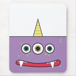 Funny Purple Monster Mouse Pad