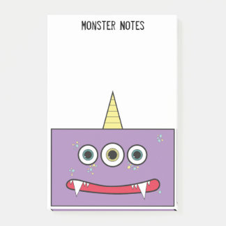 Funny Purple Monster Post-it Notes