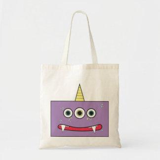 Funny Purple Monster Tote bag
