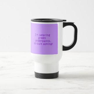 Funny Purple St. Patrick's Day t shirt Travel Mug