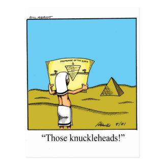 Funny Pyramid Humor Postcard
