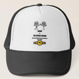 Funny Quantum Mechanics WIMP vs The Higgs Bozon Trucker Hat