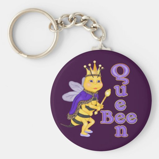 Funny Queen Bee Key Chain