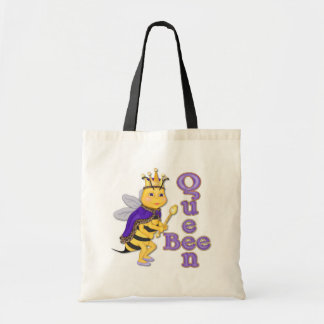 Funny Queen Bee Budget Tote Bag