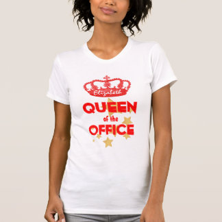 Funny QUEEN of the Office Red Crown and Stars V02 T-shirt